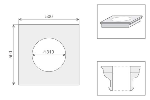 Architraw kolumny AK1/400