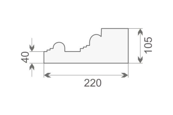 Baza pilastra BP1/400
