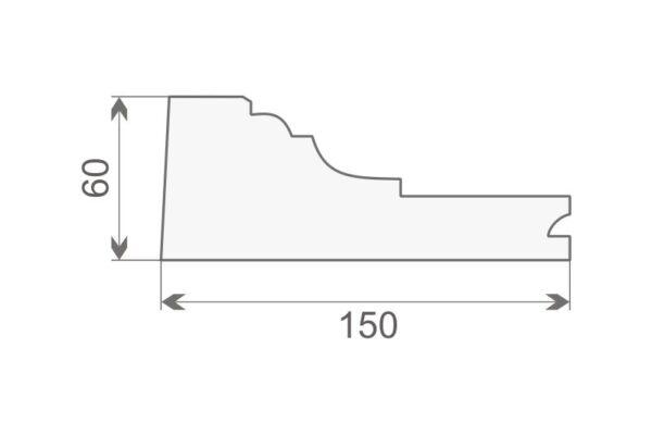 Gzyms elewacyjny GE-4A