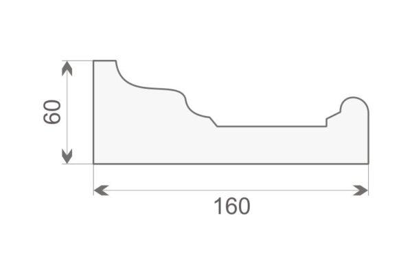 Gzyms elewacyjny GE16