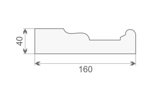 Gzyms elewacyjny GE16A