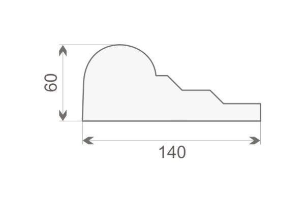 Gzyms elewacyjny GE18