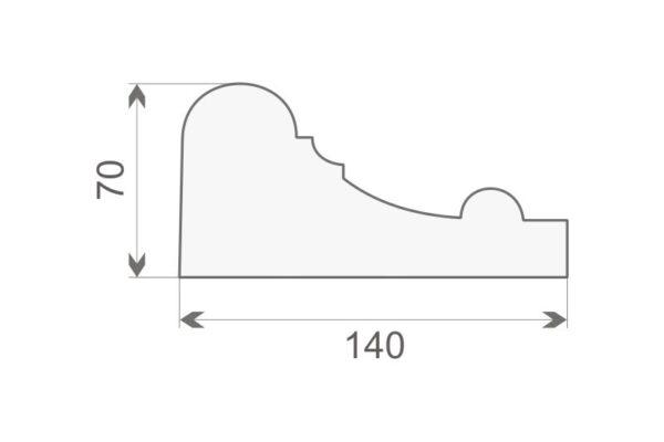 Gzyms elewacyjny GE19