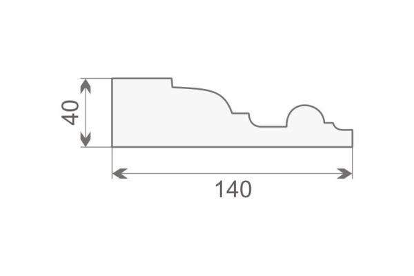 Gzyms elewacyjny GE20A