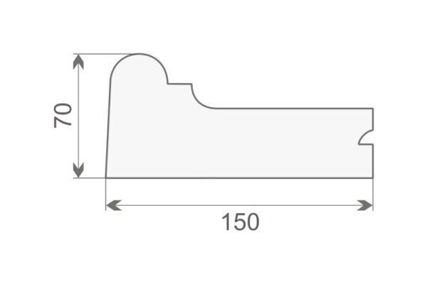 Gzyms elewacyjny GE8