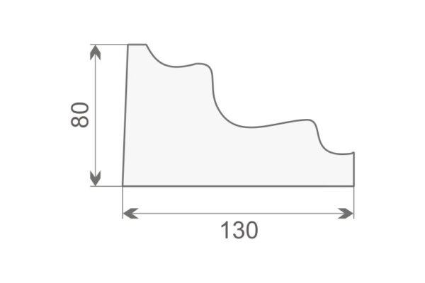 Gzyms elewacyjny GE9